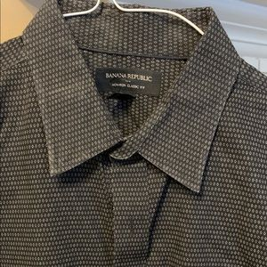 Banana Republic Black/Grey Long Sleeve Shirt